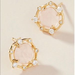 Anthropologie Lincoln Post Earrings Pink